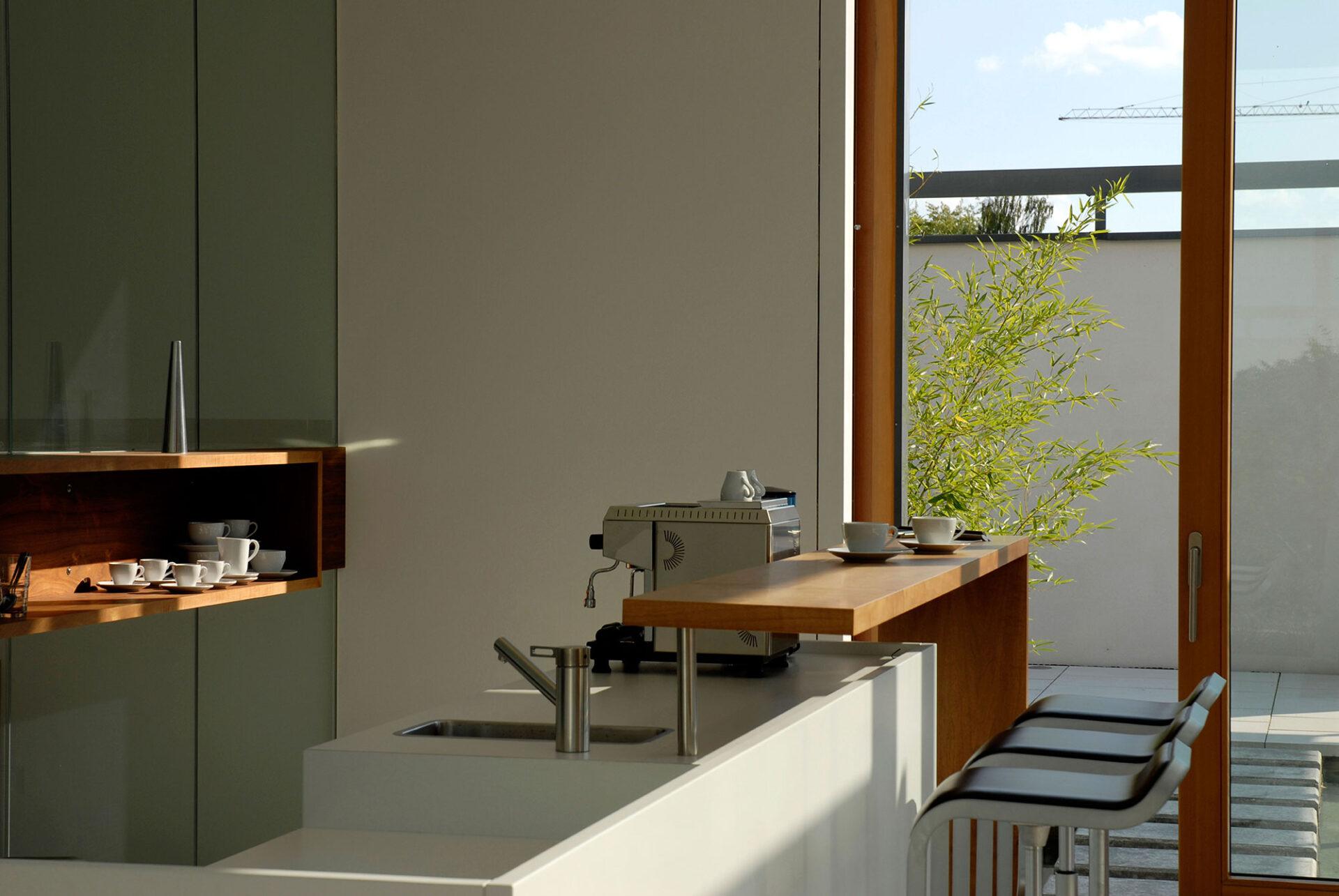 Küchenbereich im Musterhaus